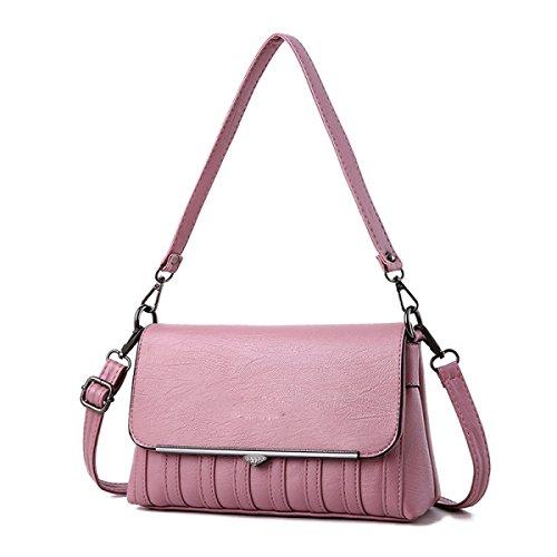 Mittleres Alter Weibliche Beutelmutterbeutel Der Neue Dame Beutel Schulter Messenger Tasche Weiblich,WineRed Pink