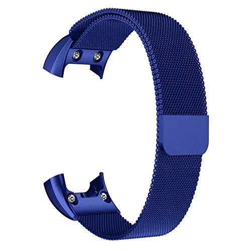 Feinny Lederband Ersatzband/Mode Deluxe Kristall Diamant Dekorative Sport Edelstahl Armband/Für Samsung Galaxy Active Series/Blau