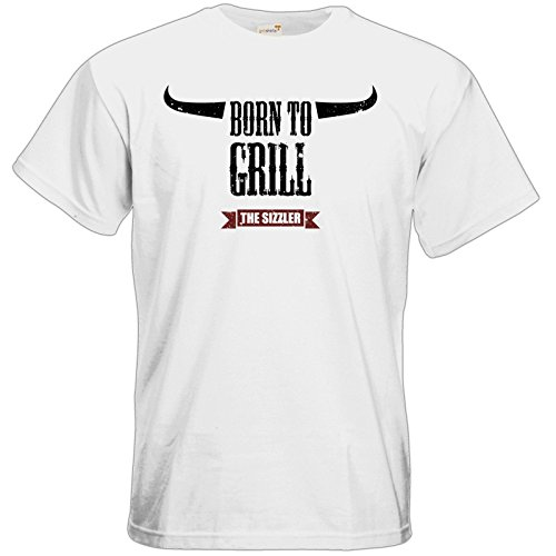 getshirts - SizzleBrothers Merchandise Shop - T-Shirt - SizzleBrothers - Grillen - Born To Grill White