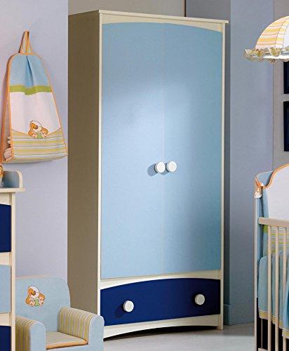 Armario infantil 2 puertas abatibles + 1 cajón inferior. Combinación de colores...