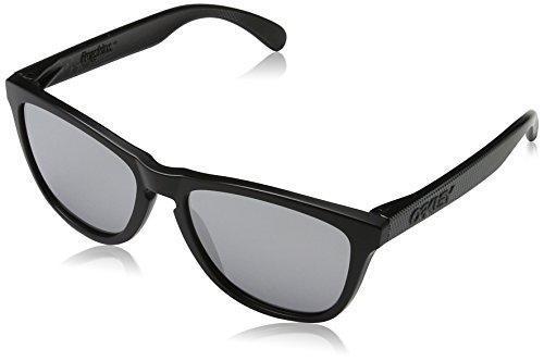 Oakley Herren Sonnenbrille OO9013-43 Frogskins, schwarz (Machinist Matte Black/Chrome Irid), one size