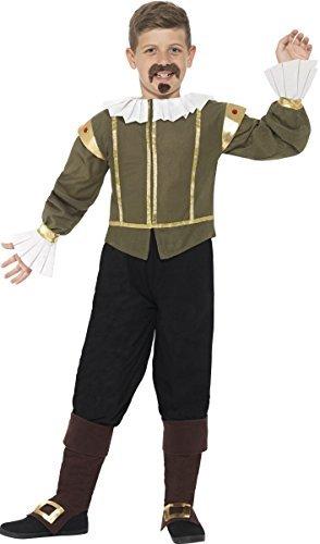 r William Shakespeare Historisch Welttag Des Buches-tage-woche Kostüm Kleid Outfit 4-12 jahre - 7-9 years (William Shakespeare Kostüm)