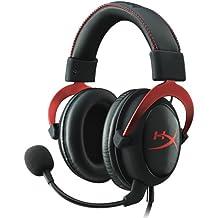 HyperX Cloud II - Auriculares de gaming de diadema cerrados con micrófono (para PC/PS4/Mac), rojo