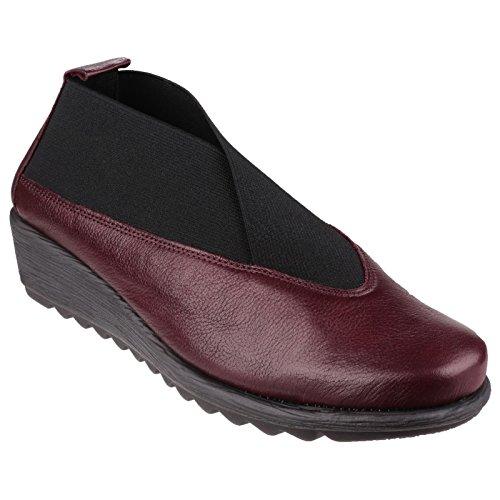 The Flexx Stretch Run Macan - Chaussures élastiquées en cuir - Femme Merlot