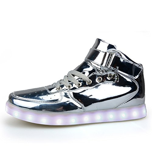 BOOWJESSSA , Chaussons montants mixte adulte silver