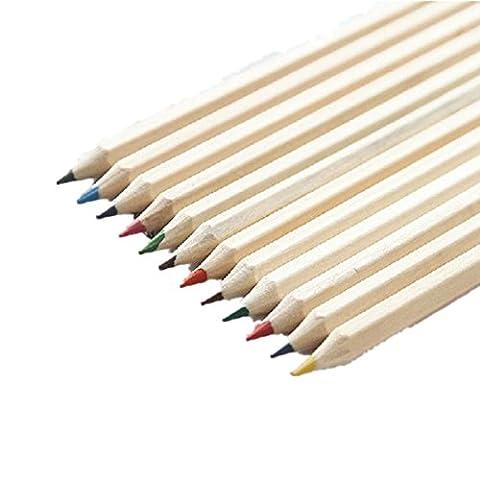 Crayons de couleur, Fat. Chot 12coloré Magic Peinture Crayons école Season Fun d'équipement d'art Dessin d'écriture de l'esquisse Loquet pour enfants et adultes