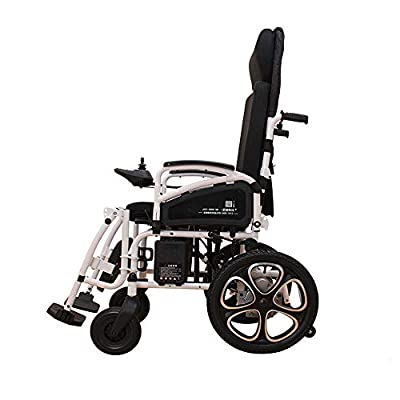 GYH Electric Wheelchair, Elderly Disabled Intelligent Lithium Battery Wheelchair, Foldable Portable Care Scooter (#)