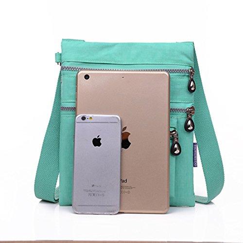 Supamodern tracolla in nylon impermeabile per donne a tracolla iPad bag Phone bag leggero sacchetto esterno al giorno per donne, donna Uomo Bambino, Dark Blue, S Dark Blue