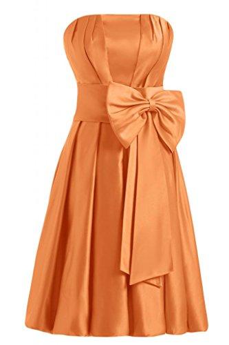 Sunvary nuovo arrivo A-Line senza spalline Homecoming corto da Cocktail Party Dresses Orange
