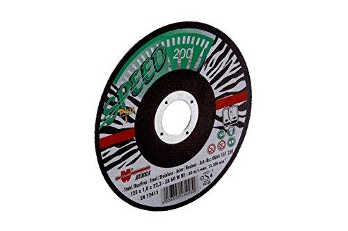 Würth dischi da taglio per acciaio inox Speed Plus Confezione da 25, diametro 125mm, spessore 1mm, foro 22,23mm (Ø 125mm), confezione risparmio - Speed acciaio