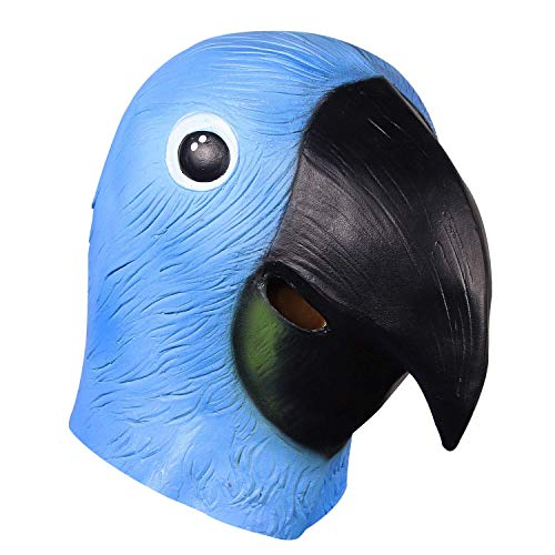 Hause Zu Kostüm Hat Mama - BK8Ⓡ Halloween Requisiten Cosplay Kostüme Dekoration Niedlichen Vogel Maske Papagei Kopf Maske, Latex Tierkopf Maske