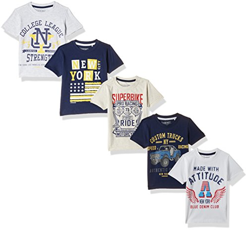 Cherokee by Unlimited Boys' T-Shirt (Pack of 5) Boys' T-Shirts at amazon