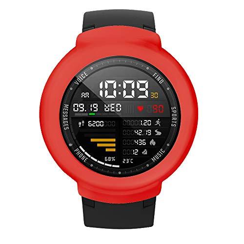Webla Red Wami Uhr Weiche Schutzhülle Weiche TPU Silikon Schutzhülle Für Huami Amazfit Verge Smart Watch (Rot)