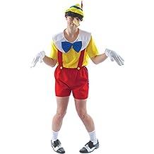 Para hombre disfraz de carnaval revestimiento de Pinocchio