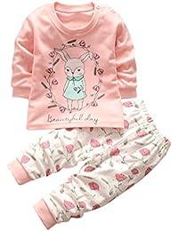 �� Bebe Invierno por 0-3 Años, �� Zolimx Bebés Recién Nacidos Niños Niñas de Dibujos Animados Estampado Sudaderas Tops Camisa + Pantalones Largos Conjuntos