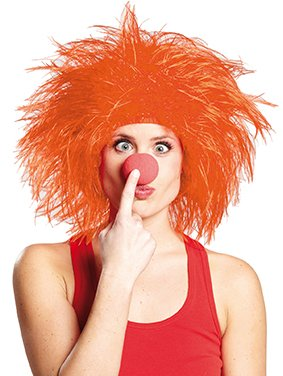ke Struppi Orange - Lustige Struppelpeter Perücke für verschiedene Kostüme zu Karneval oder Mottoparty (Lustige Afro)
