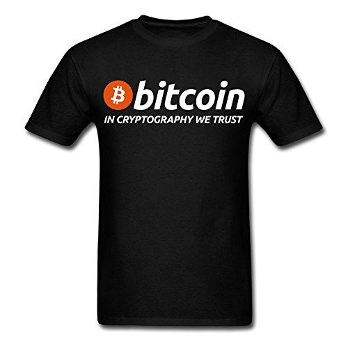 HXHSA EACO Cheap Men's Bitcoin Cryptography Geek T-Shirts Black