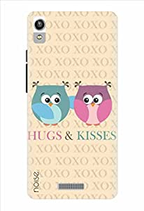 Noise Hugs And Kisses Printed Cover for Lava Pixel V1