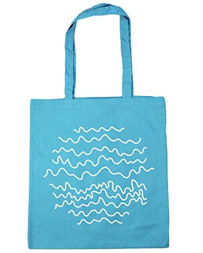 Hippowarehouse ,  Damen Strandtasche Blau (Surf Blue)