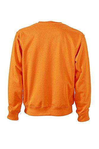 James & Nicholson Herren Workwear Sweat Sweatshirt Orange (Orange)
