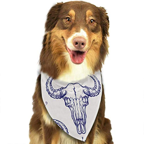 Buffalo Skull Pet Dog Cat Bandanas Triangle Bibs Pet Scarf Dog Neckerchief Headkerchief Pet Accessories