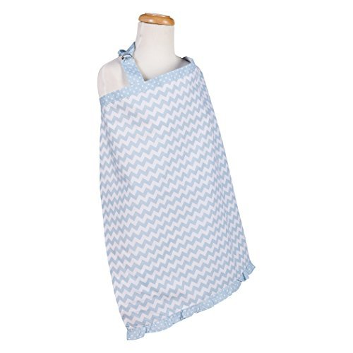 Trend Lab Sky Chevron Nursing Cover, Blue by Trend Lab