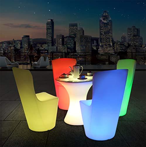 MRXUE LED Mood Sedia da Tavolo con Telecomando, Ricaricabile Impermeabile Bambini Luce Notturna Hanno 16 Colori dimmerabili & 4 modalità, Luce Decorativa Esterna/Interna,D58xH60cm(Table)