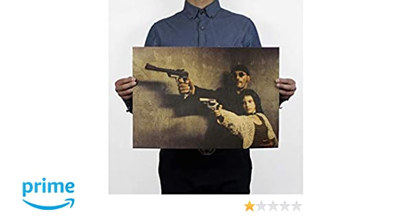 Vintage World Famous Gun Poster Military Kraft Paper Wall Sticker Home Decor