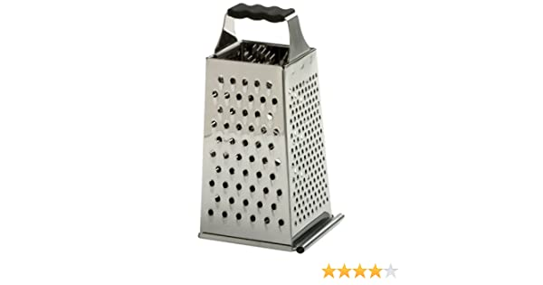 Norpro 343 Grip-EZ Stainless Steel Grater with Catcher, Silver