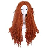 Brave Movie Disguise Pixar Merida Costume Wig Cosplay Party Hair Wig Cb38 by L-email wig