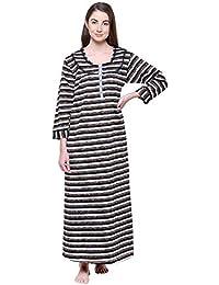204a39942 Secret Wish Women s Printed Woolen Nighty Nightwear Nightdress Woolen Nighty  Nightwear Multicolor