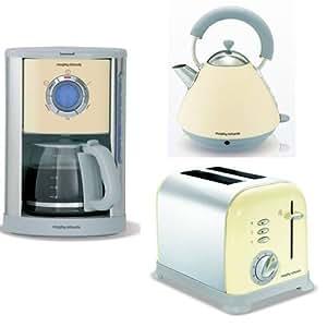 morphy richards design fr hst cksset accents creme kaffeemaschine wasserkocher toaster amazon. Black Bedroom Furniture Sets. Home Design Ideas
