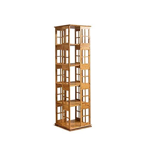 100% nagelneu sexy 3/4/5/6-tier Bücherregal 360 Grad Kreativität Rotierenden Bambus Einfache Bücherregal Kleine Bücherregal Bodenständer (Größe: 37 * 37 * 117,5 cm) ( Größe : 37*37*117.5cm )