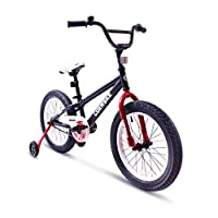 "COEWSKE BMX Cycling Kid Bikes Children Sport Bicycle Snow Bike Fat Tire for Girl and Boy 16 Inch with Training Wheel (16"",Black)"