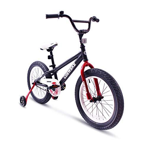COEWSKE BMX Radfahren Kid Bikes Kinder Sport Fahrrad Snow Bike Fett Reifen für Mädchen und Jungen 18 Zoll mit Trainingsrad (Schwarz) - Rot-bmx-fahrrad-reifen