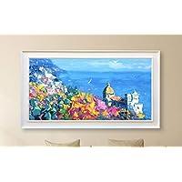 Positano Painting on Canvas Original Italy Amalfi Coast Home Decor Large Wall Art Gift