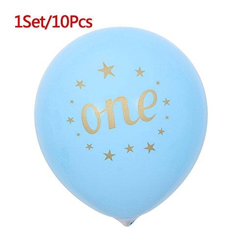 CTGVH Set of 10Love Herz Latex Luftballons für Hochzeit Baby Geburtstag Party Ballon Dekorationen, Latex, Blue One, 30,48 cm