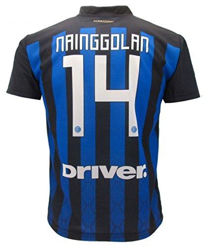Camiseta de Fútbol RADJA NAINGGOLAN 14 F.C. Inter Home Temporada 2018-2019  Replica Oficial con b6311f6163c30