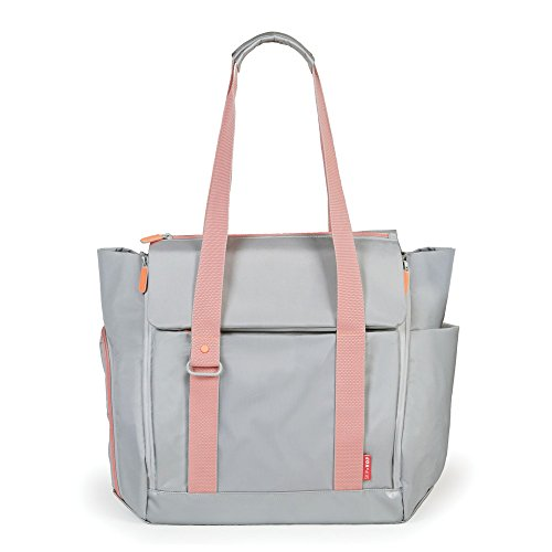 Skip Hop 204202 FIT All Access Diaper Tote Coral - Wickeltasche Platin, mehrfarbig