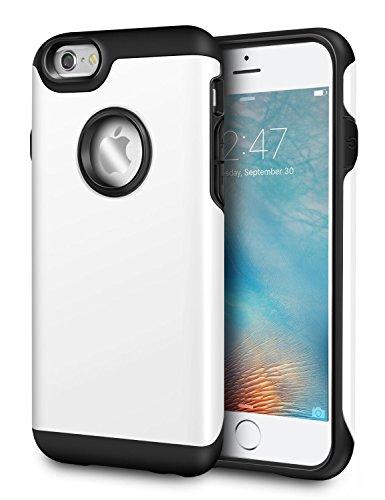 Coque iPhone 6/6s Plus, Pasonomi® [Slim Fit] [Dual Layer] Housse Étui Hybride Couche 2 Lourde en PC + Silicone dur Coque pour Apple iPhone 6s Plus / iPhone 6 Plus 5.5 Pouce (iPhone 6/6s Plus, Bleu) Blanc