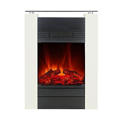 El Fuego Elektrokamin mit täuschend echtem Flammeneffekt B, 1 Stück, Tessin weiß von El Fuego® auf Heizstrahler Onlineshop
