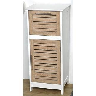 TENDANCE – Mueble de baño (1 Armario y 1 cajón), diseño de Roble Envejecido