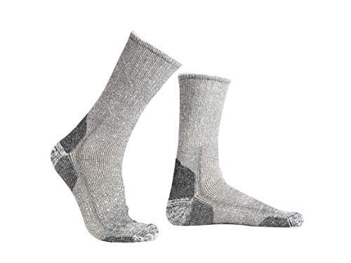 Hellerman - 2 Paar Thermosocken für Damen & Herren - Wärmende Wintersocken mit hochwertiger Alpakawolle - Bequeme Thermo Socken, auch perfekt geeignet als Skisocken (43-46)
