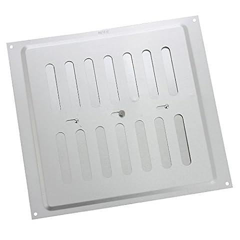 9 x 9 Adjustable Air Vent Satin Anodised Aluminium /