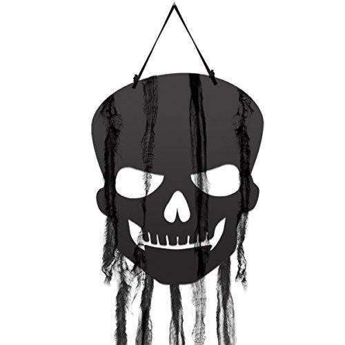 Amscan Halloween Hängende Schädel Dekoration mit Gaze X 4