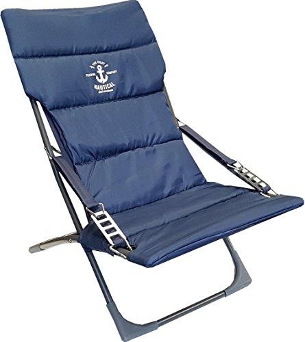 osoltus Campingsessel Strandsessel Anker I Armlehne Relax Amrum Blau Hausratplus