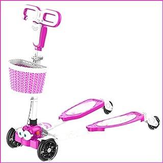 HBJB Kinder 4-Rad-Frosch-Roller-Schere Auto-Dias 4 Runden Flash-Kind Baby 4-Rad (Color : B)