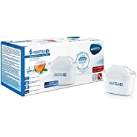 Brita Maxtra 1022214Lot de 6filtres plus pour carafe filtrante, plastique, blanc, 5.7x 10x 7.8cm