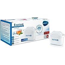 BRITA Filtri MAXTRA+ Pack 6, Cartucce per Caraffe Filtranti, 6 Filtri x 6 Mesi di Acqua Filtrata