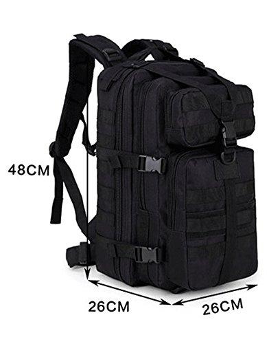 super-bab tattico zaino da trekking sport borsa da viaggio zaino campeggio trekking, mimetico, Black Black